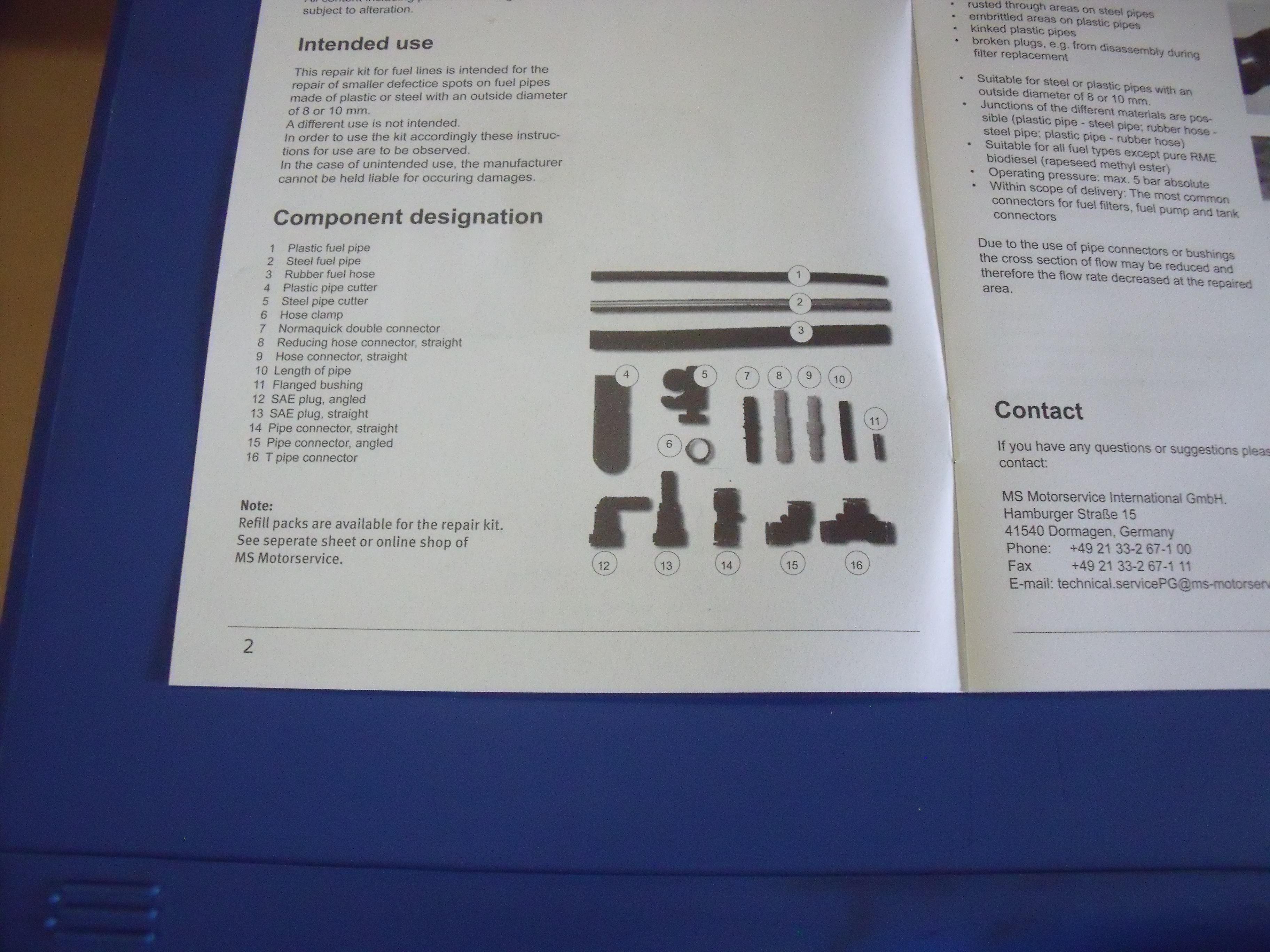 New Pierburg fuel line repair kit - AW Shop